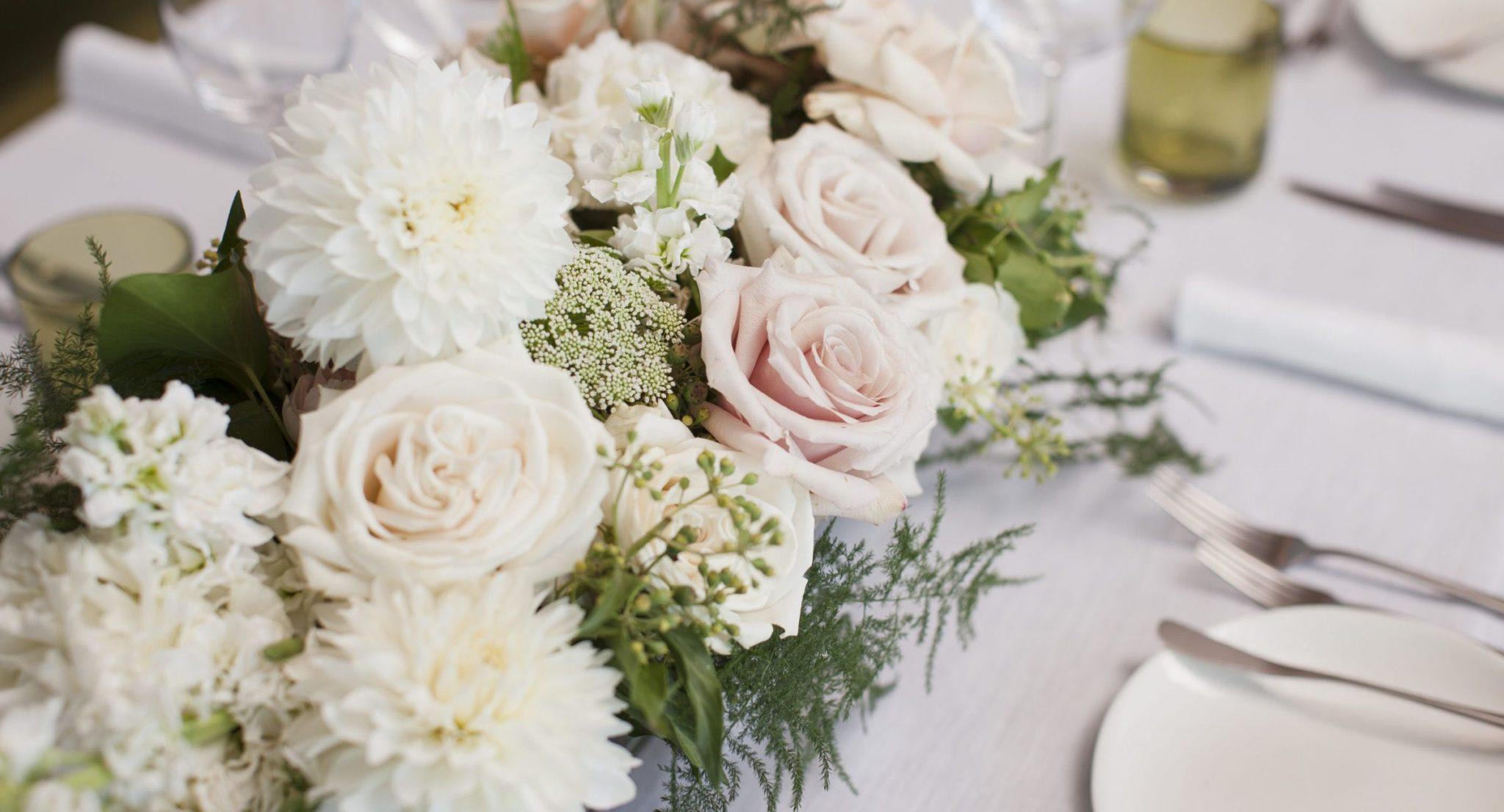 Wildflower table settings